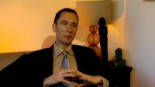 vídeos y material grabado en eventos de stock de ongoing police inquiry to visit lagos in nigeria; richard hoskins interview sot - torso