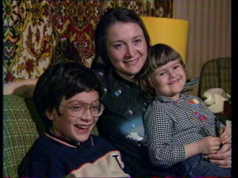 thames tv programmes; cms soviet mum & two young children watching tv - television show stock videos & royalty-free footage