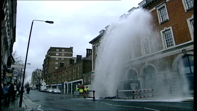 thames water announce plans to build new reservoir in oxfordshire; date unknown london: burst water pipe and flood waters street with water shooting... - oxfordshire stock videos & royalty-free footage