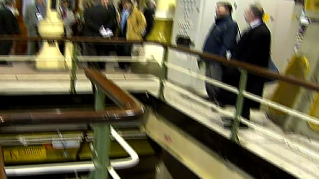 thames water bills set to rise to pay for new london sewer people looking around pumping station including ken livingstone - water pumping station stock videos & royalty-free footage
