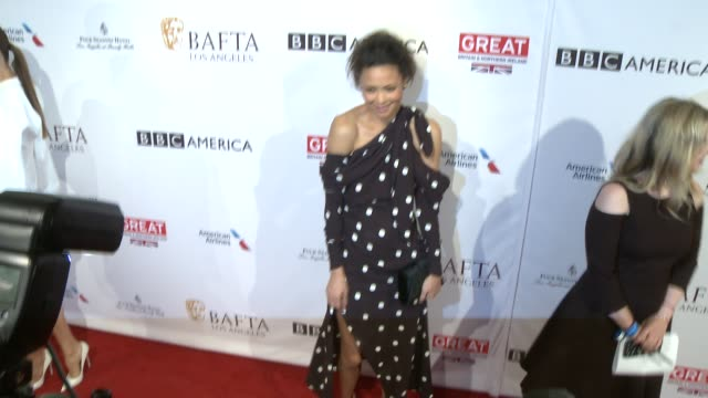 thandie newton at 2017 bafta los angeles awards season tea party the four seasons los angeles at beverly hills in los angeles ca - thandie newton stock videos & royalty-free footage