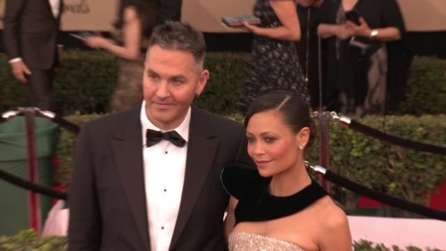 Thandie Newton at 23rd Annual Screen Actors Guild Awards Arrivals at The Shrine Expo Hall on January 29 2017 in Los Angeles California