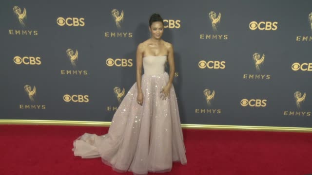 thandie newton at 69th annual primetime emmy awards in los angeles ca - thandie newton stock videos & royalty-free footage