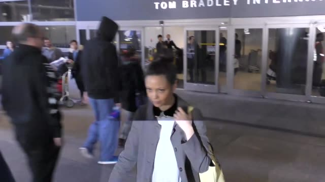 thandie newton at los angeles international airport at celebrity sightings in los angeles on february 24 2017 in los angeles california - thandie newton stock videos & royalty-free footage