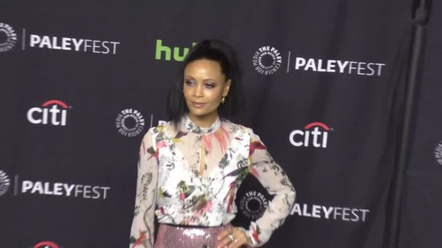 thandie newton at paleyfest los angeles 2017 'westworld' at dolby theatre on march 25 2017 in hollywood california - thandie newton stock videos & royalty-free footage
