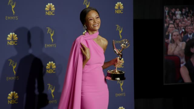 Thandie Newton at the 70th Emmy Awards Photo Room at Microsoft Theater on September 17 2018 in Los Angeles California