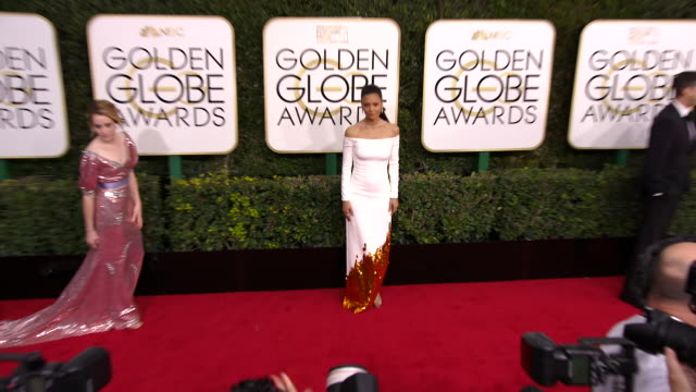 thandie newton at the 74th annual golden globe awards arrivals at the beverly hilton hotel on january 08 2017 in beverly hills california 4k - thandie newton stock videos & royalty-free footage