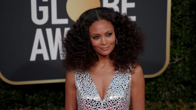 thandie newton at the 76th annual golden globe awards arrivals 4k footage at the beverly hilton hotel on january 06 2019 in beverly hills california - golden globe awards stock videos & royalty-free footage