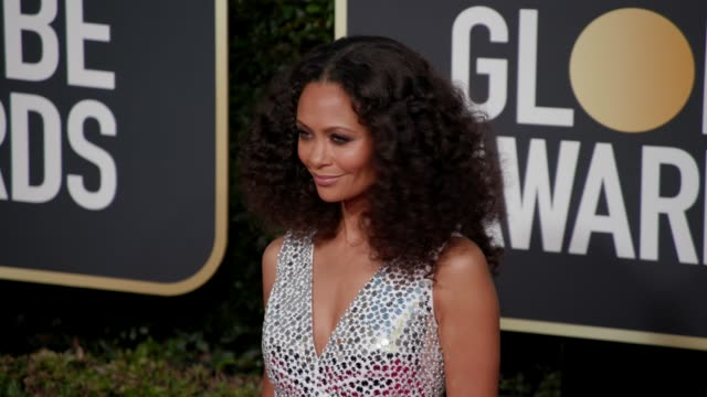 thandie newton at the 76th annual golden globe awards arrivals 4k footage at the beverly hilton hotel on january 06 2019 in beverly hills california - thandie newton stock videos & royalty-free footage