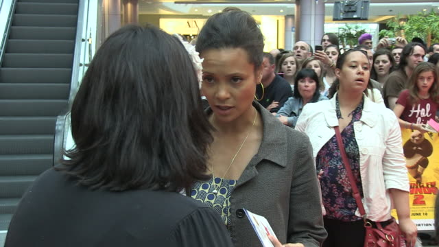 thandie newton at the kung fu panda 2 uk premiere at london london - thandie newton stock videos & royalty-free footage