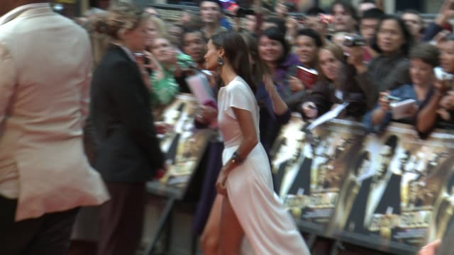 thandie newton at the london rocknrolla world premiere at london - thandie newton stock videos & royalty-free footage