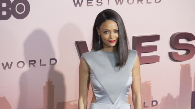 """thandie newton at the los angeles season 3 premiere of the hbo's """"westworld"""" at tcl chinese theatre on march 05, 2020 in hollywood, california. - tcl chinese theatre stock videos & royalty-free footage"""