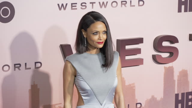 thandie newton at the los angeles season 3 premiere of the hbo's westworld at tcl chinese theatre on march 05 2020 in hollywood california - thandie newton stock videos & royalty-free footage