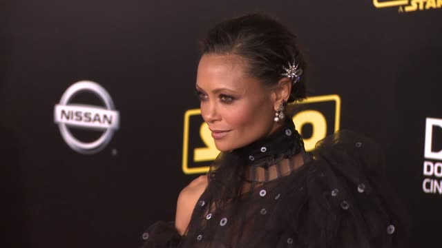 """thandie newton at the """"solo: a star wars story"""" world premiere at the el capitan theatre on may 10, 2018 in hollywood, california. - el capitan theatre stock videos & royalty-free footage"""