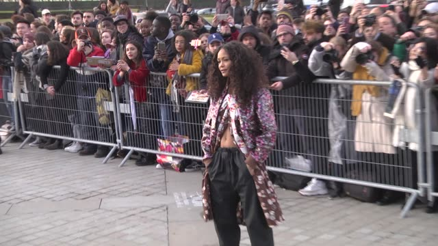 thandie newton attends the louis vuitton show as part of the paris fashion week womenswear fall/winter 2019/2020 on march 5, 2019 in paris, france. - ブランド ルイヴィトン点の映像素材/bロール