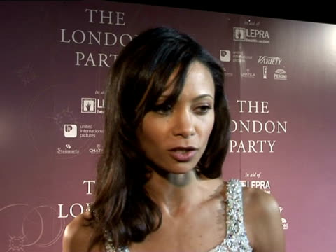 thandie newton being excited about the baftas at the prebafta awards party the london party on february 18 2006 - thandie newton stock videos & royalty-free footage