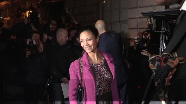 Thandie Newton Celebrity Video Sightings on February 09 2013 in London England