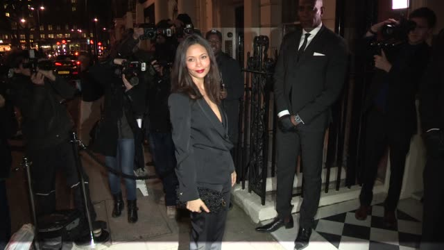 thandie newton harper's bazaar at mark's club on february 18 2013 in london england - thandie newton stock videos & royalty-free footage