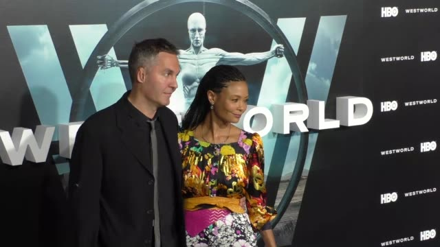 thandie newton ol parker at the hbo premiere of westworld at tcl chinese theatre in hollywood at celebrity sightings in los angeles on september 28... - thandie newton stock videos & royalty-free footage