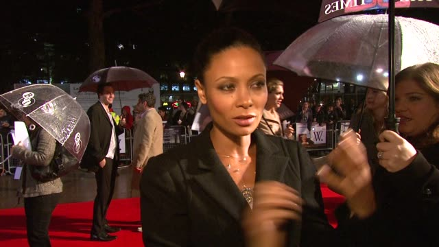 thandie newton on being british and playing an american at the london film festival w premiere at london - thandie newton stock videos & royalty-free footage