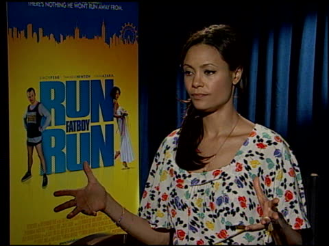 Thandie Newton on David Schwimmer as a director and on her role as the onset prankster at the 'Run Fatboy Run' Press Junket at the Four Seasons Hotel...