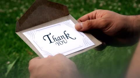 vídeos y material grabado en eventos de stock de carta de agradecimiento - correspondencia
