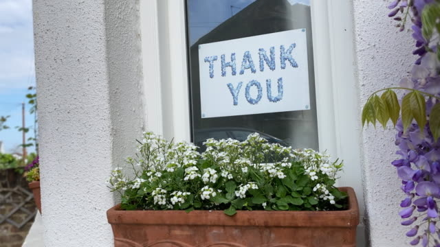 thank you message in window - animation - sign stock videos & royalty-free footage