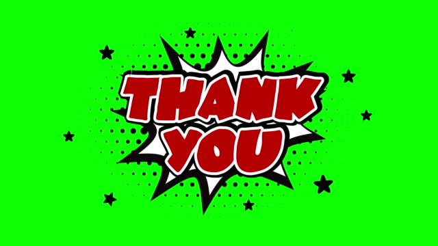 クロマキーの背景の上に単語アニメーションをありがとう - thank you点の映像素材/bロール