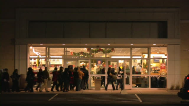 thanksgiving, black friday. - people in a line stock videos & royalty-free footage
