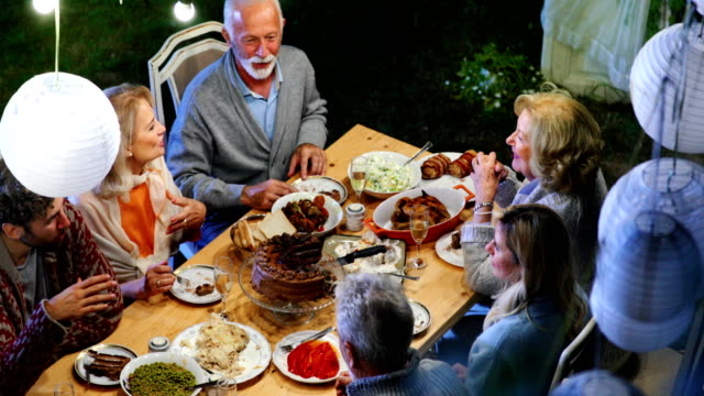 thanksgiving dinner party. - evening meal stock videos & royalty-free footage