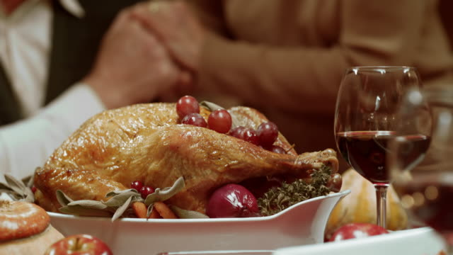 thanksgiving turkey being brought to the table - turkey stock videos and b-roll footage