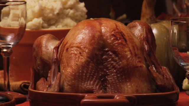 thanksgiving turkey - thanksgiving plate stock videos & royalty-free footage