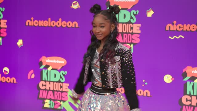 that girl lay lay at nickelodeon's kids' choice awards 2021 - arrivals on march 13, 2021. - choice stock videos & royalty-free footage