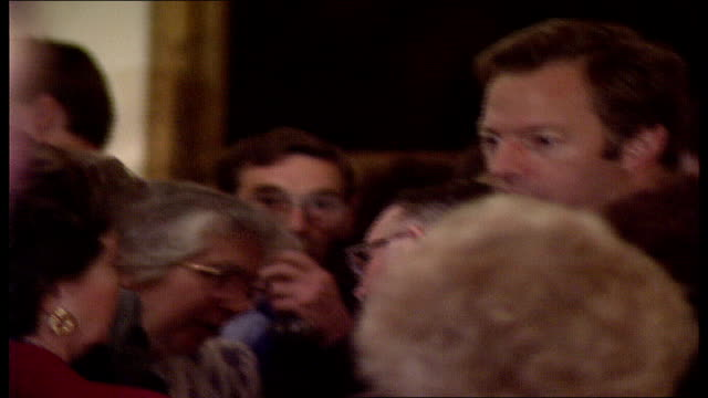 thatcher leadership critics; england: london: westminster: 10 downing street: int margaret thatcher and husband denis thatcher greeting guests... - husband stock videos & royalty-free footage