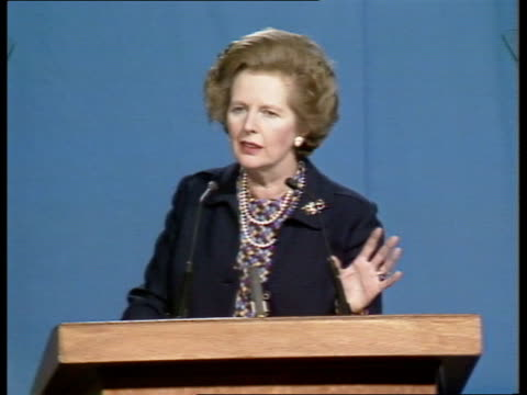 birmingham speech sof quotit was a budget that charges what people wantquot - margaret thatcher stock-videos und b-roll-filmmaterial