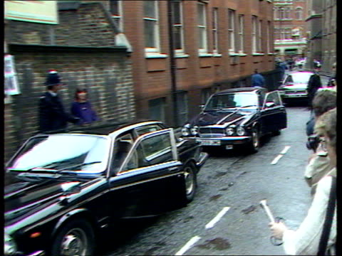 thatcher votes c england londoncastle lane election day/policemen grappling with 'polling station' poster pull bv policemen sticking up 'polling... - 1987 stock videos & royalty-free footage