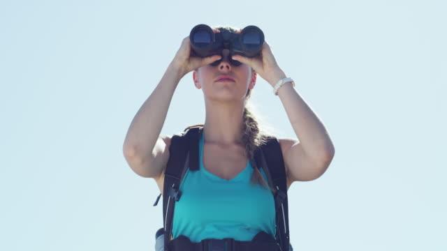 それはとても美しいです - 双眼鏡点の映像素材/bロール