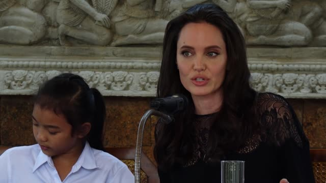 ''That's the question every ' Angelina Jolie attends a press conference for the premiere of 'First They Killed My Father' on February 18 2017 in Siem...