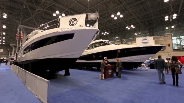The 110th annual Progressive New York Boat Show has started at Javits Center on January 21 2015 in New York United States The 5 day event will...