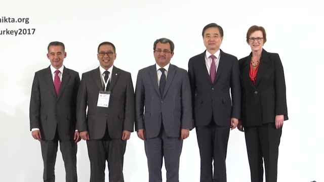 the 11th annual meeting of foreign ministers of mikta countries is held in istanbul turkey on december 13 2017 turkey's deputy foreign minister ahmet... - annual general meeting stock videos & royalty-free footage