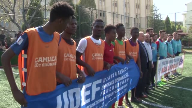 the 11th edition of the annual football tournament held by turkey's staterun dormitory authority and the federation of international student... - education building stock videos & royalty-free footage