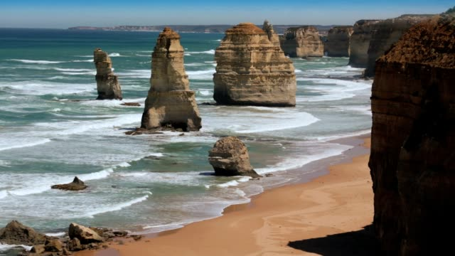 the 12 apostles great ocean road. hd - great ocean road stock videos & royalty-free footage
