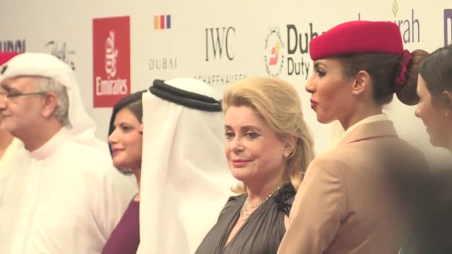the 12th dubai international film festival opens with over 130 films on the program and a special tribute to french actress catherine deneuve - french culture stock videos & royalty-free footage