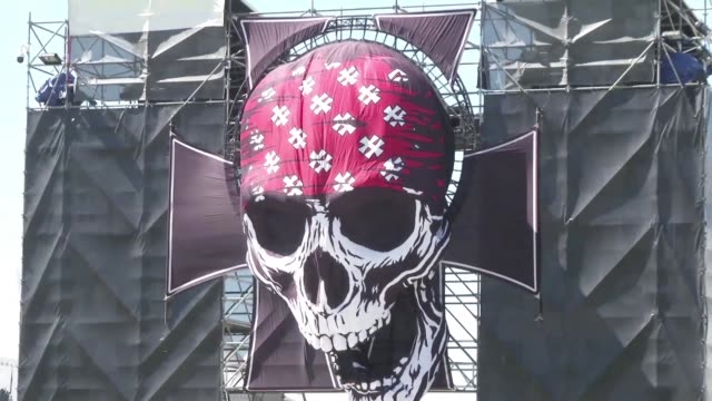 the 13 edition of hellfest a european metal music festival opens in clisson france - caillou stock videos & royalty-free footage