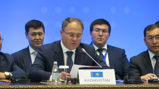 the 13th round of syria peace talks in kazakhstan capital nur-sultan, formerly astana, concluded on friday with a decision to step up joint efforts... - djurbeteende bildbanksvideor och videomaterial från bakom kulisserna