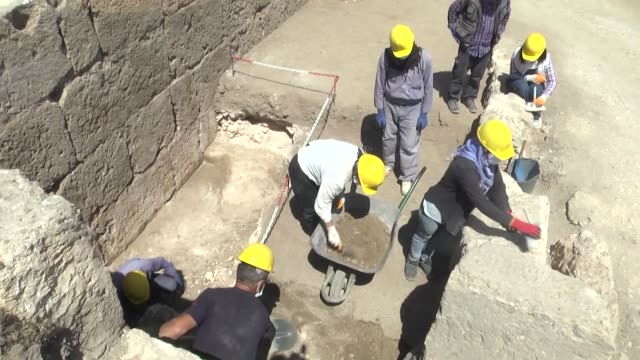 the 1800yearold entrance to historic zerzevan castle which is on the unesco world heritage tentative list has been unearthed by archaeologists in... - 3rd century bc stock videos & royalty-free footage