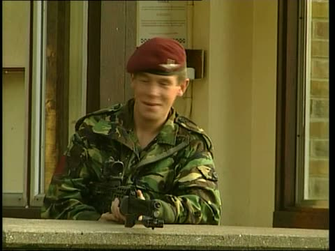 the 1st battalion the parachute regiment barracks in dover england kent dover ext entrance to barracks of the 1st battalion the parachute regiment /... - regiment stock videos & royalty-free footage