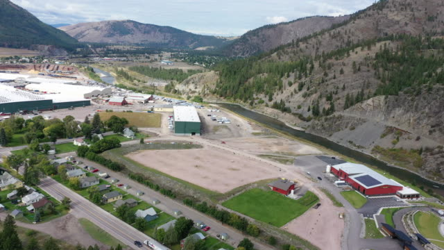 the 200acre bonner mill industrial park stands near the confluence of the clark fork the blackfoot rivers and is home to more than a dozen businesses... - trailer home stock videos & royalty-free footage