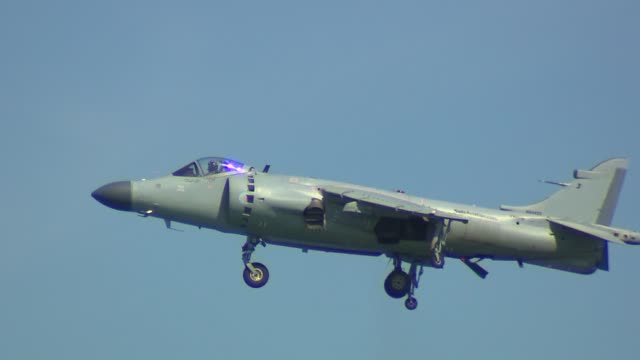 the 2013 chicago air and water show attracted 1.7 million spectators. british sea harrier jumper in the air on august 16, 2013 in chicago, illinois - chicago air and water show stock videos & royalty-free footage
