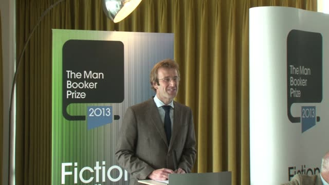 the 2013 man booker prize for fiction shortlist was announced tuesday at a press conference in london clean 2013 man booker prize for fiction on... - man booker prize stock videos & royalty-free footage